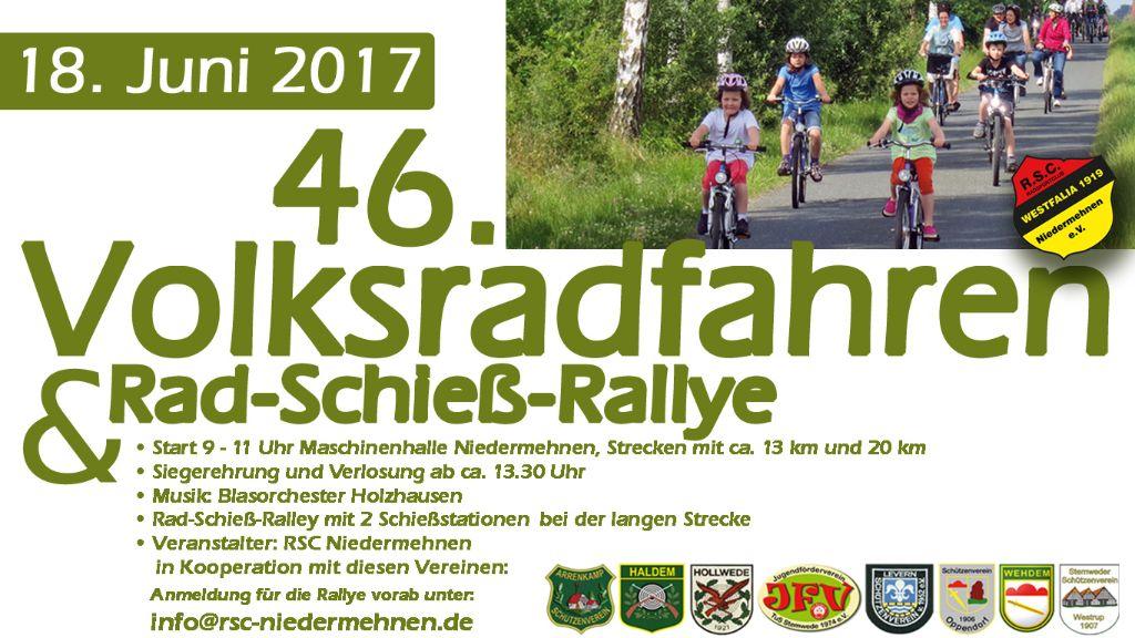 46. Niedermehner Volksradfahren 2017 und Rad-Schieß-Rallye