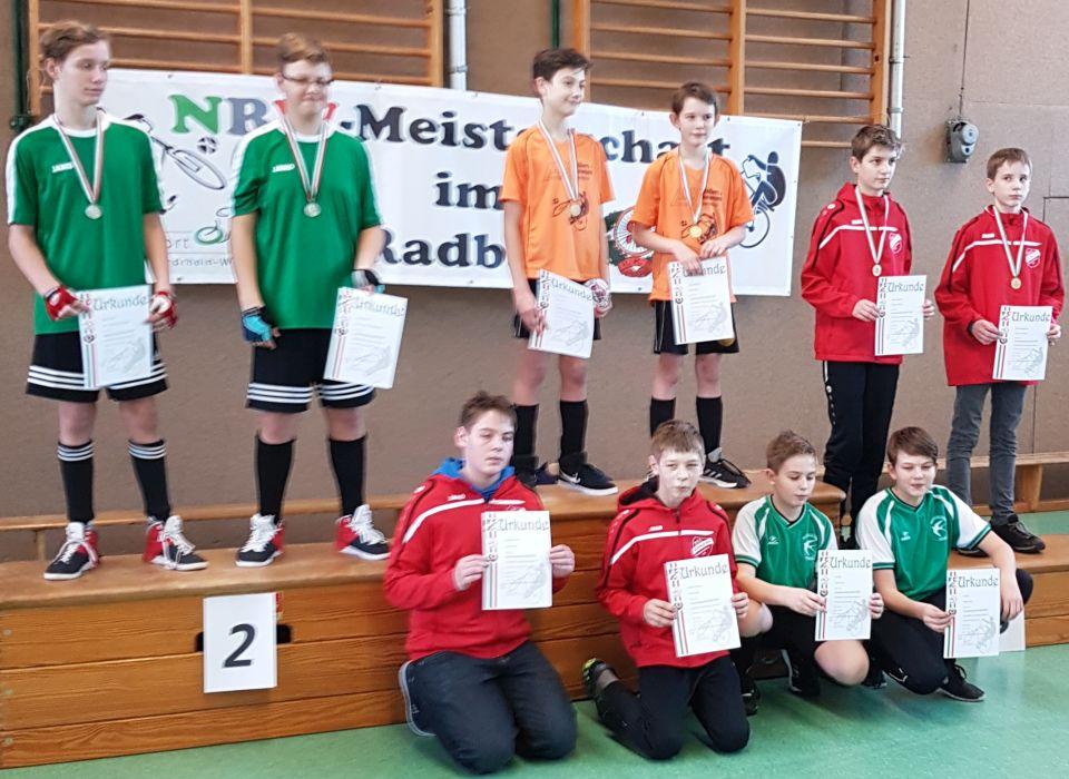 Niedermehner U15 Radballer Dritte der Landesmeisterschaft