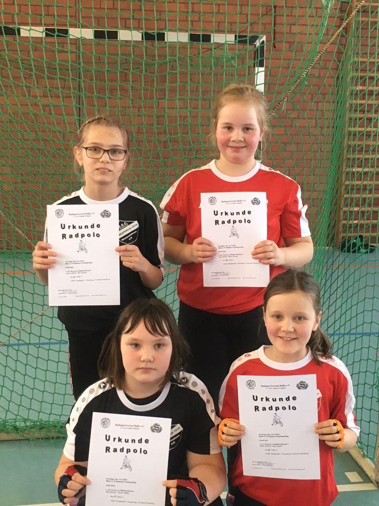 U13 Radpolo Mädchen zeigten gute Leistungen