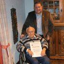 Für 70-jährige Mitgliedschaft wurde Willi Wittenbrink geehrt.
